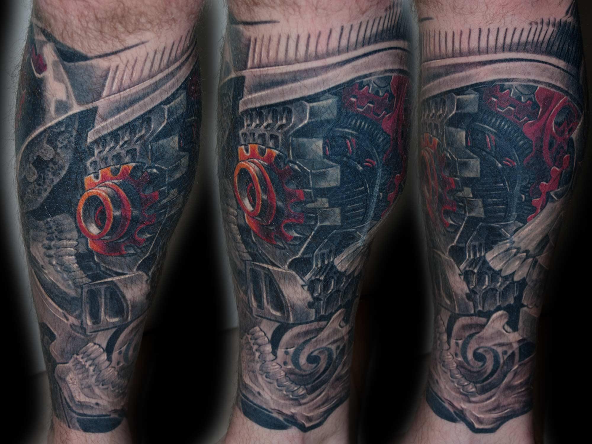 Tattoo Zahnräder