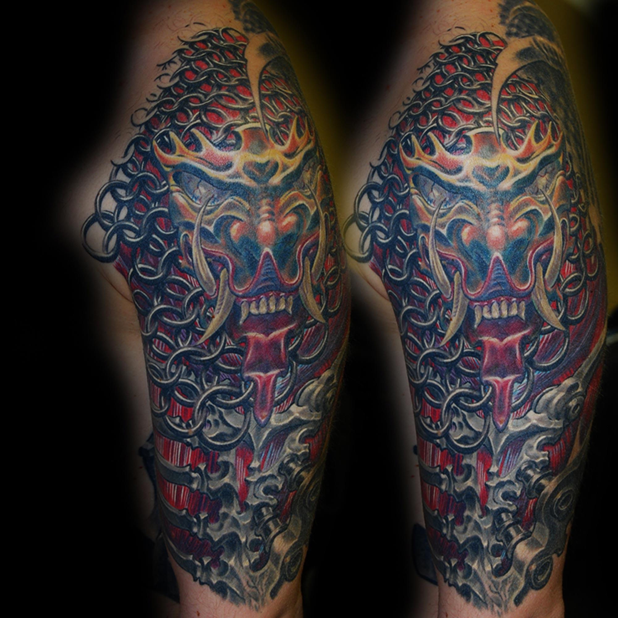 Biomechanik Tattoo Maske Of Tho Richtig Terrible Pain Und Duhm