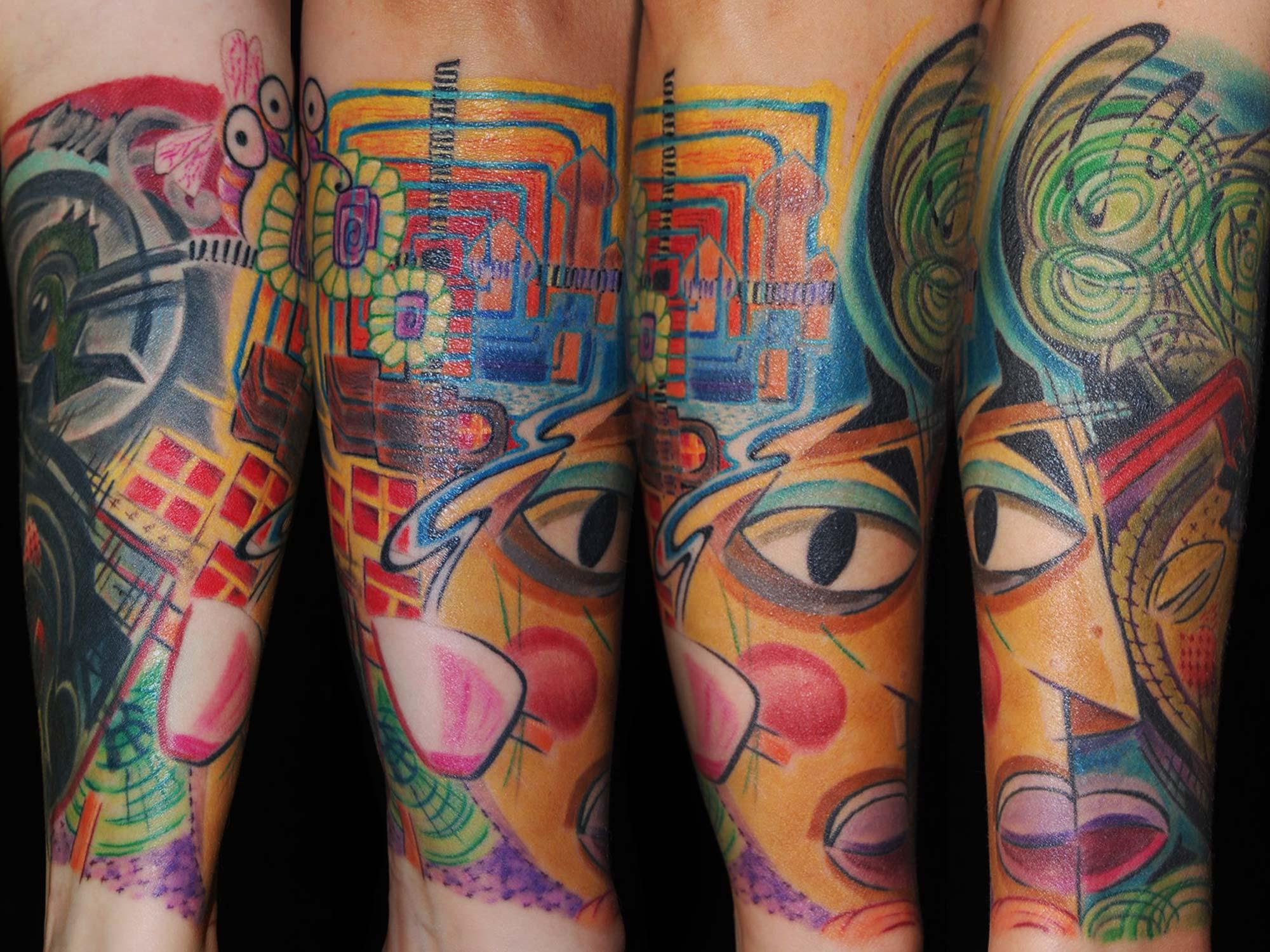 Hundertwasser Picasso Cover Up Tattoo Überdeckung Raul München Spezialist