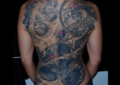 Geisha Rücken Fullback Tattoo