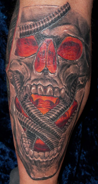 glowing Skull Tattoo