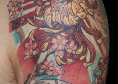 Chrysantheme Tattoo – Wandlungsphasen Kontrollzyklus