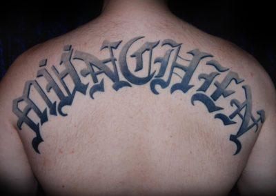 München Schrift Tattoo
