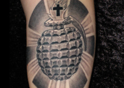 Holy Handgranate Tattoo