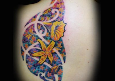 Fraktal Blumen Tattoo