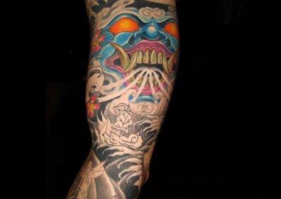 Japanischer Dämon Tattoo
