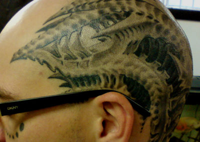 Chad sein Head Tattoo