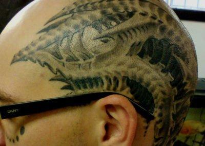 Chad sein Head Tattoo