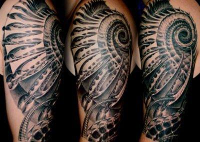Spirale des Todes Tattoo