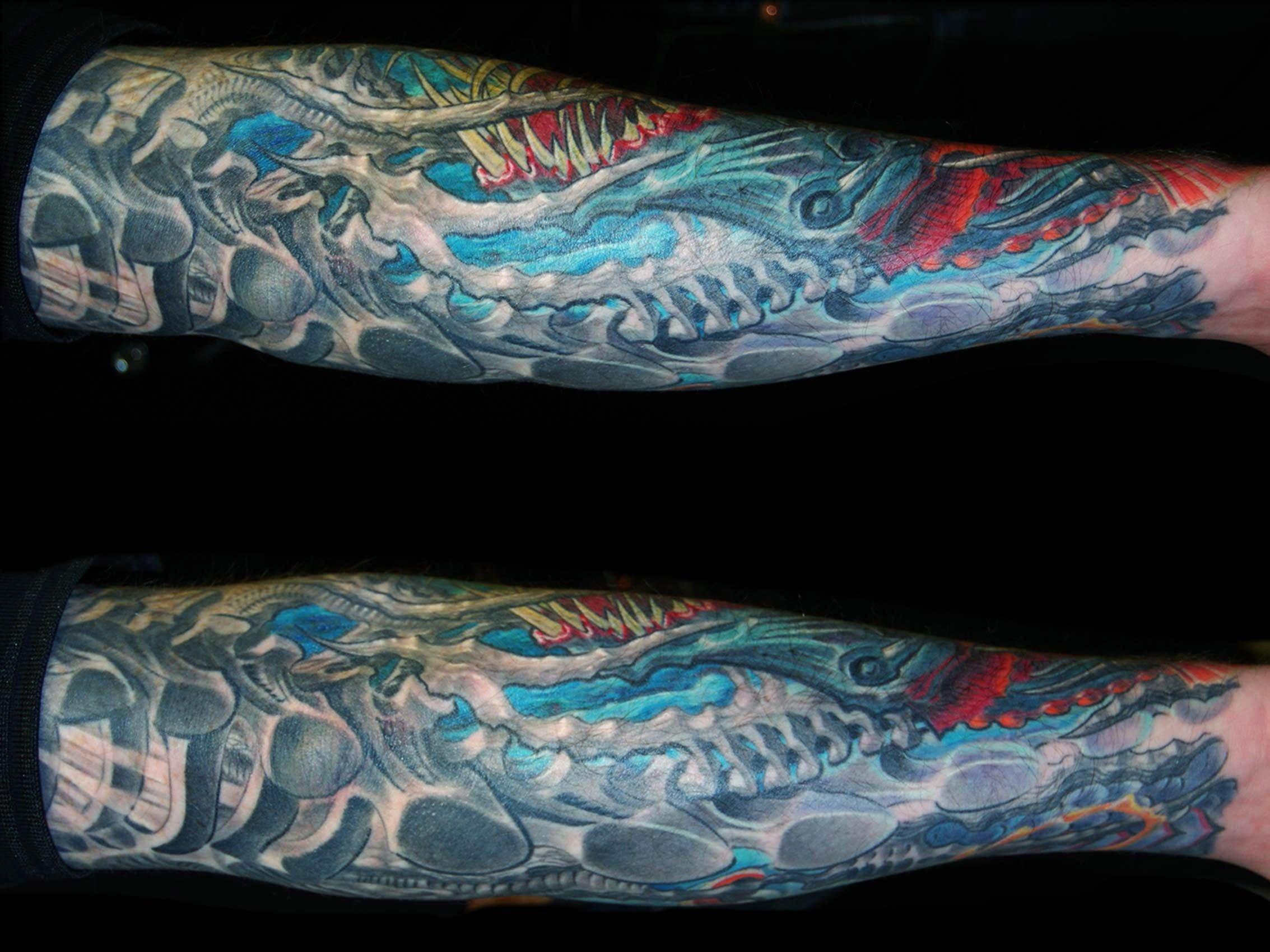Biomechanik-Unterarm-Unterwasser-Fisch-Tattoo-1-München