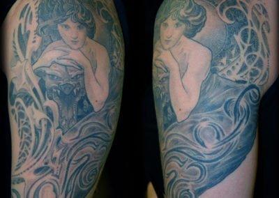 Mucha Jugendstil Tattoo München