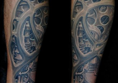 Motorrad Biomechanik Tattoo München