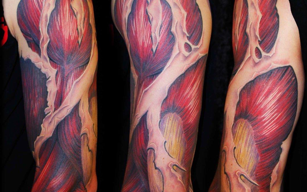 Biomechanik Muskulatur Tattoo