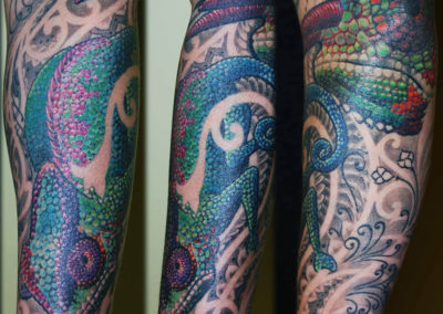 Chamäleon Coverup Tattoo München