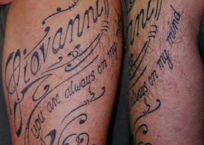 Schrift Tattoo Ornament