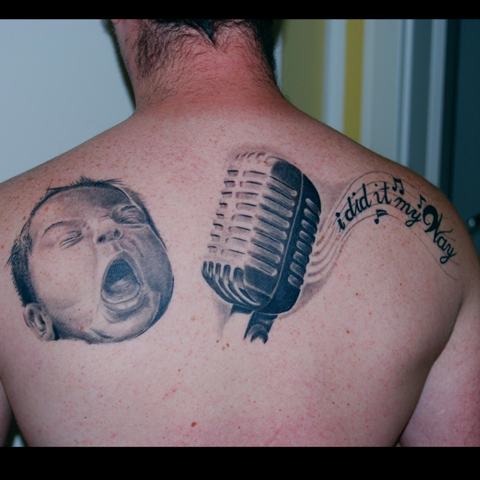 Baby Portrait Tattoo Erweiterung Coverup