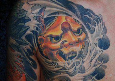 japanische Hannya Maske Tattoo München