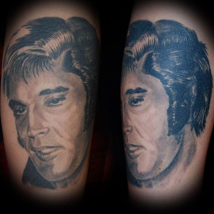 elvis Tattoo München Cover up Überdeckung