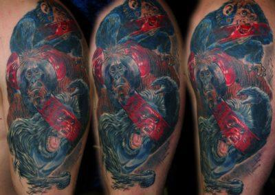Die 3 heiligen Affen Tattoo