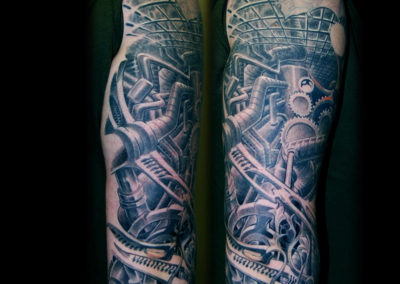 Biomechanik Fabrik Rohre Tattoo