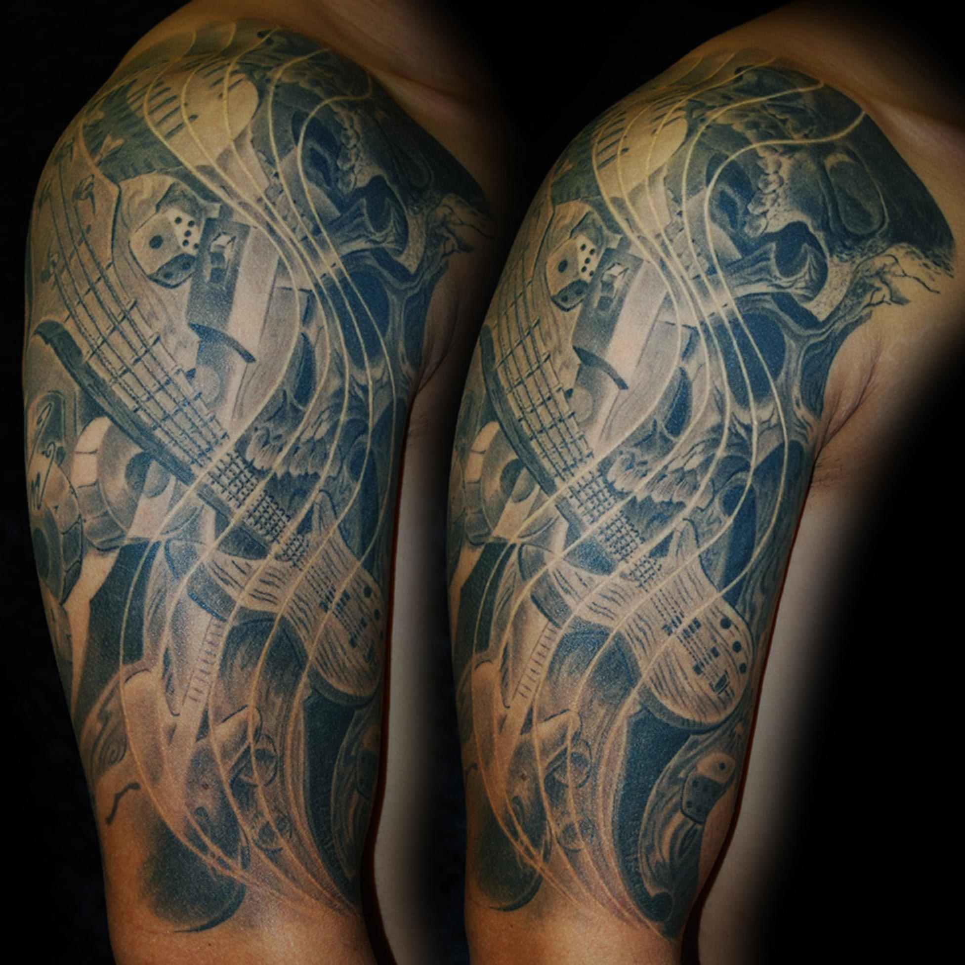 Rock´n´Roll- Music was my first Love- Tattoo München hits for Life Tattoo Raul