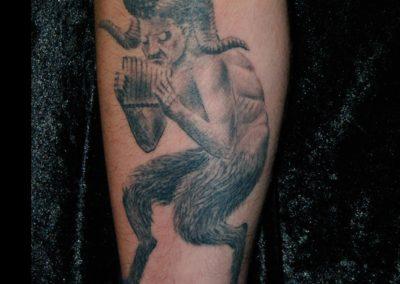 Pan mit Flöte Tattoo