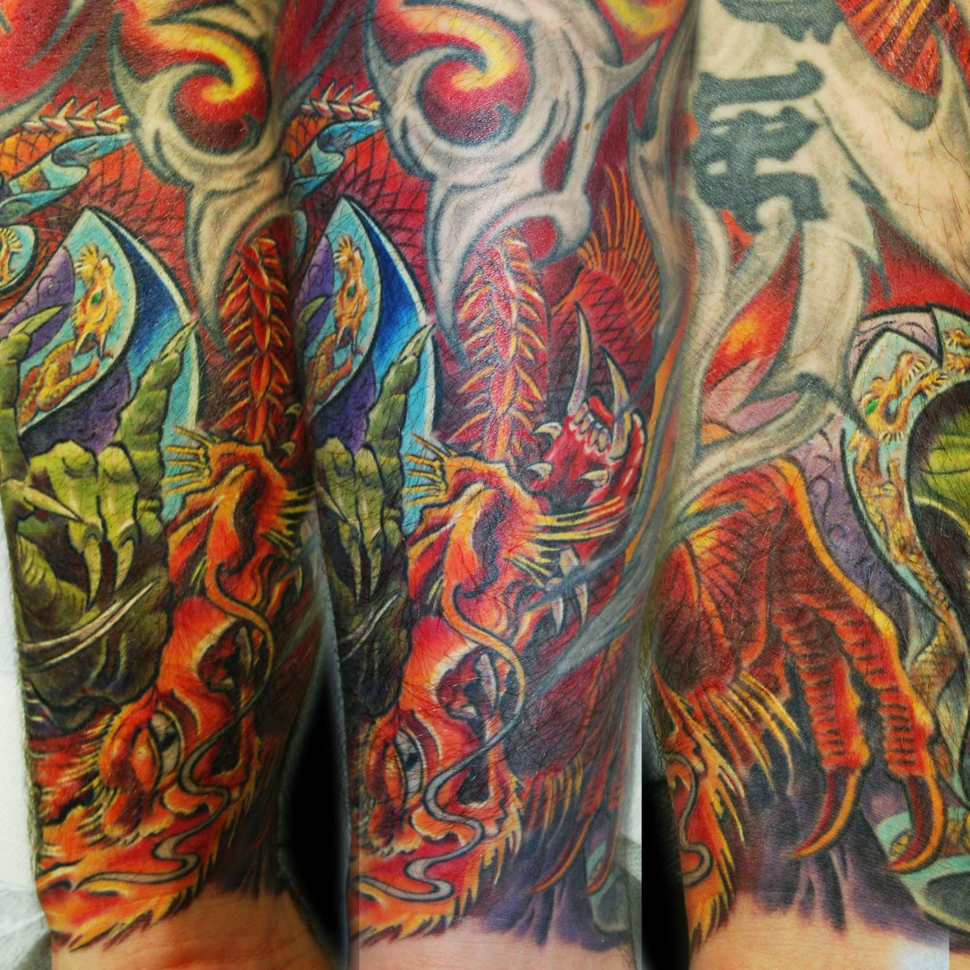 japanischer Drache Tattoo mit Oni München