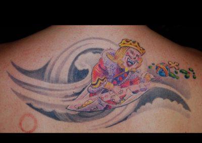 Herz König Karte Tattoo