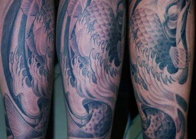 Japanischer Koi Tattoo München