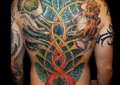 Biomechanik Rücken Tattoo