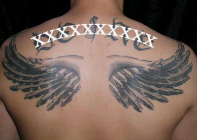 Rücken Flügel Tattoo