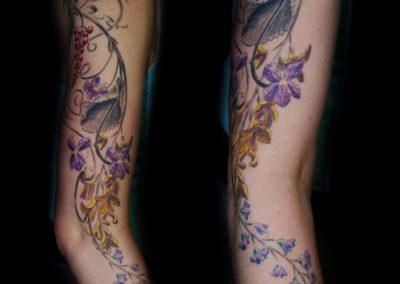 Blumen Ornament Tattoo