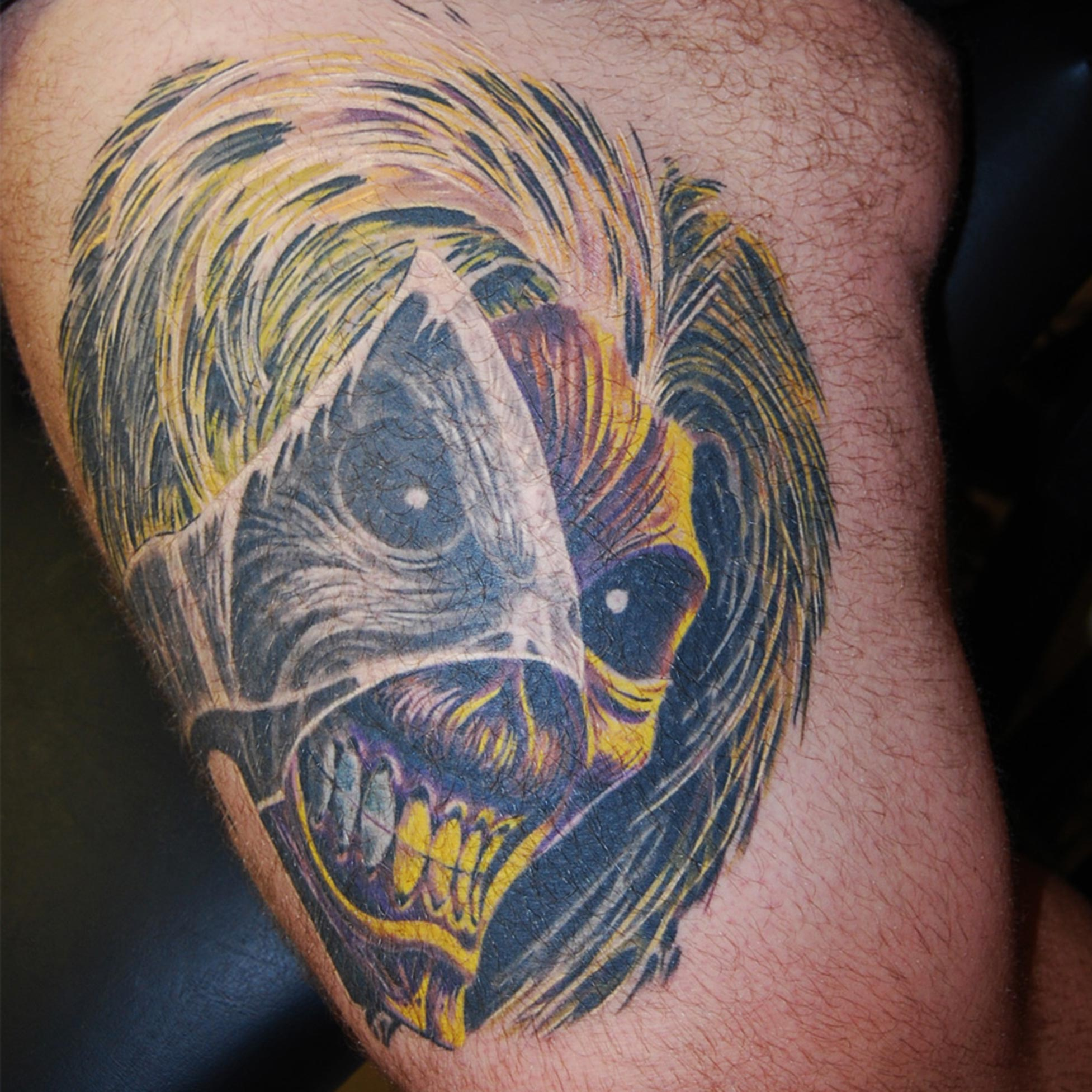 "Iron Maiden ""Eddie"" Tattoo München, Raul Hits for LIfe Tattoo"