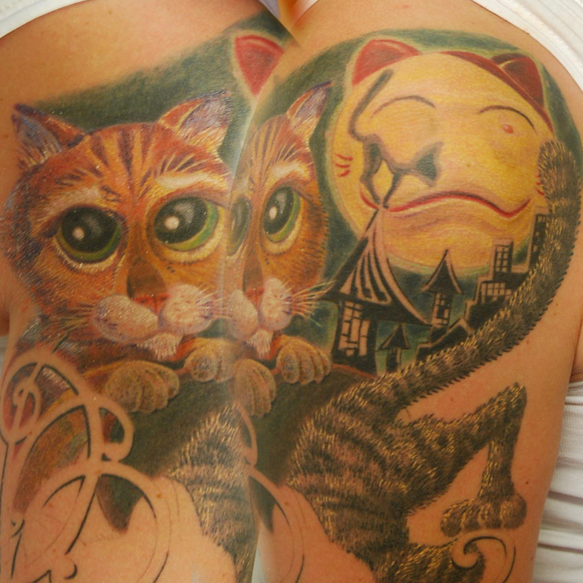 Katzen Tattoo München hits for life Tattoo Raul