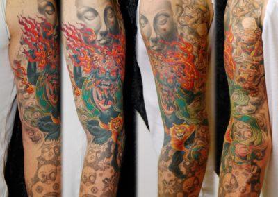 Mahakala Buddha Asia Tattoo