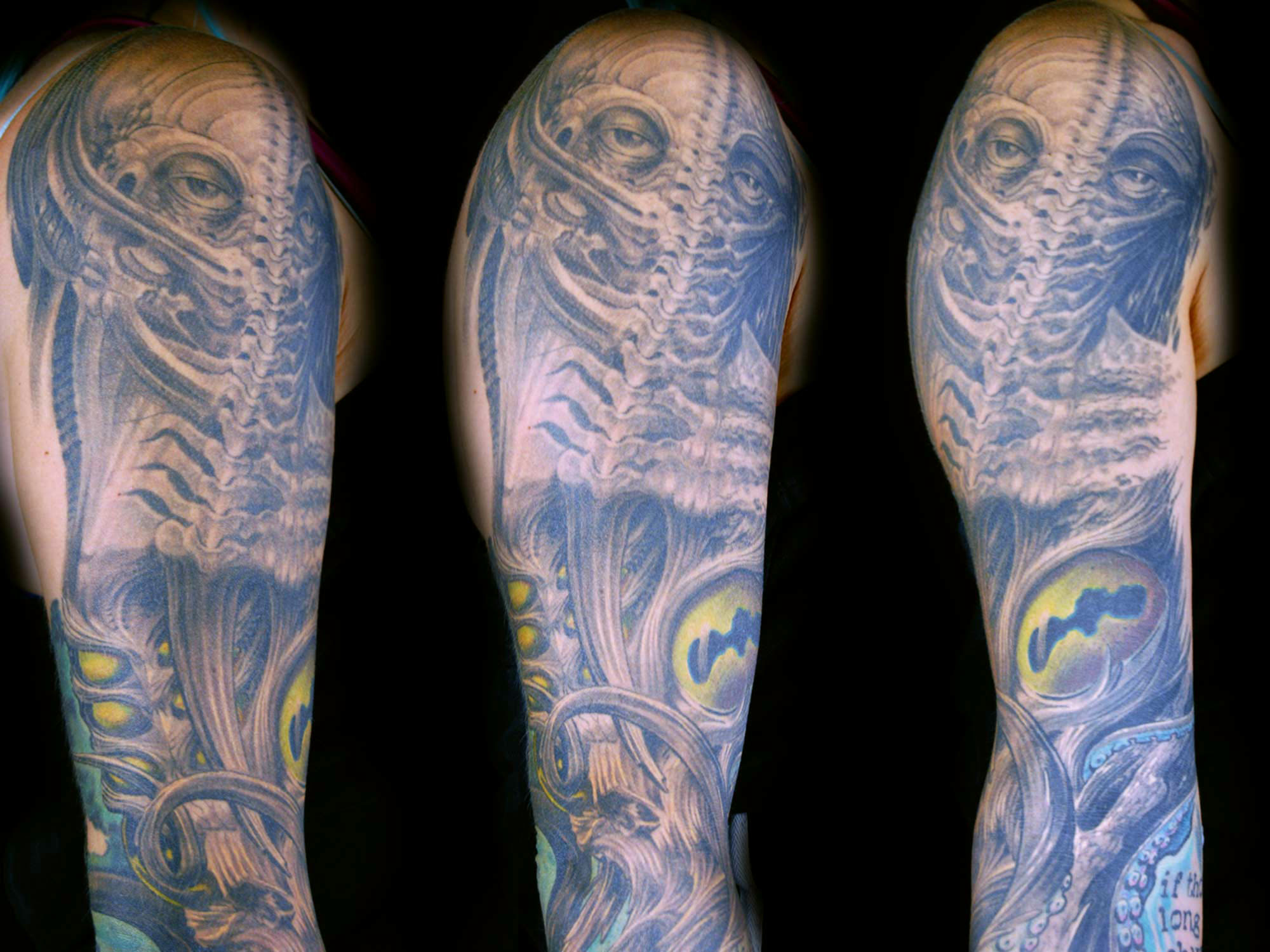 Biomechanik-Krake-Giger-Alien Hits for  Life Shit for life it for life tattoo Raul München Munich
