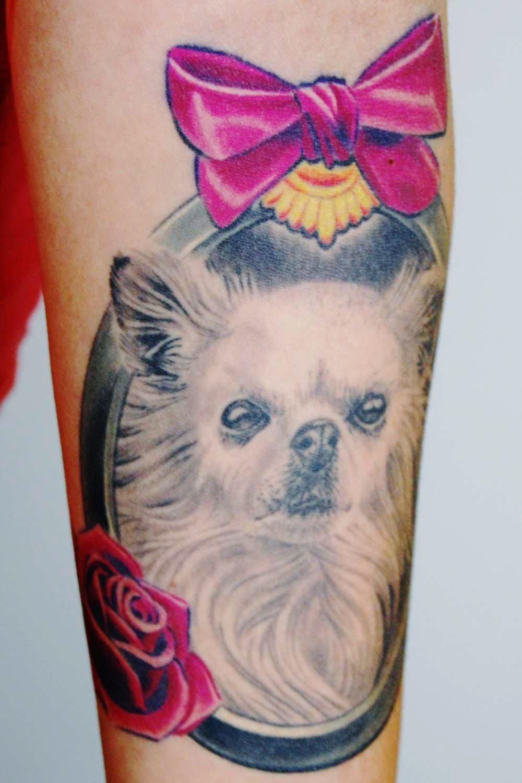 Filou Chihuaha Hunde Tattoo