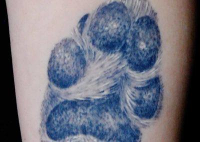 Hunde Pfote Tattoo