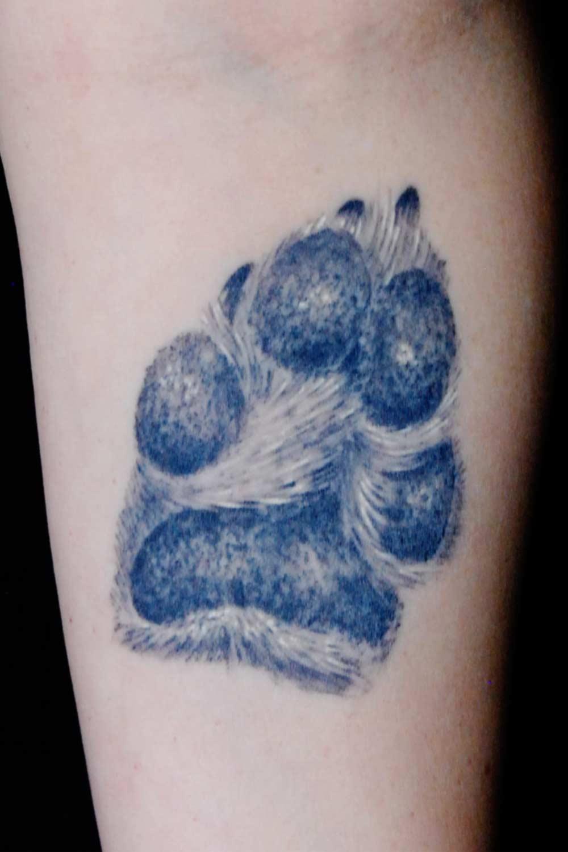 Hunde Pfote Tattoo Raul Shit for Life Tattoo