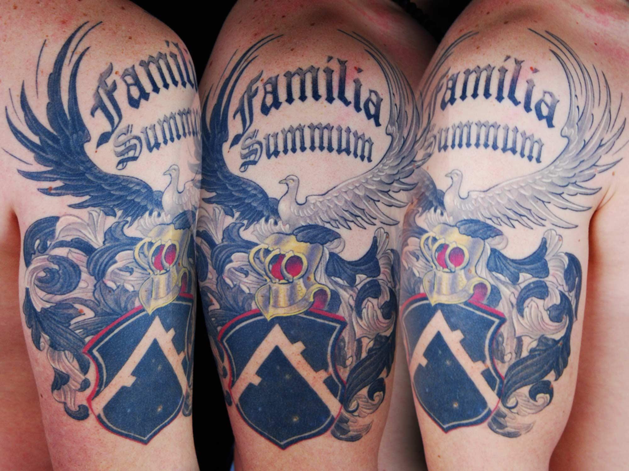 Familia-Summum Tattoo Wappen Hits for Life Shit for Life Tattoo it for Life Tattoo